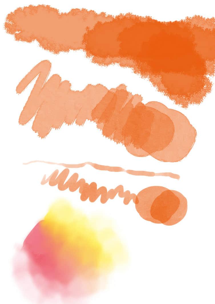 超清水彩涂抹痕迹、水墨笔触Photoshop笔刷素材 水彩笔刷 水墨笔刷  photoshop brush