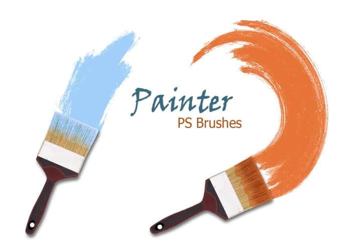 高清油漆刷子涂抹效果Photoshop笔刷素材下载 刷子笔刷  %e6%b2%b9%e6%bc%86%e7%ac%94%e5%88%b7