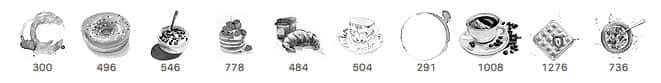 美味甜点、早餐、下午茶Photoshop水彩图形作画笔刷素材 点心笔刷 水彩笔刷 早餐笔刷 早点笔刷  %e5%8d%a1%e9%80%9a%e7%ac%94%e5%88%b7