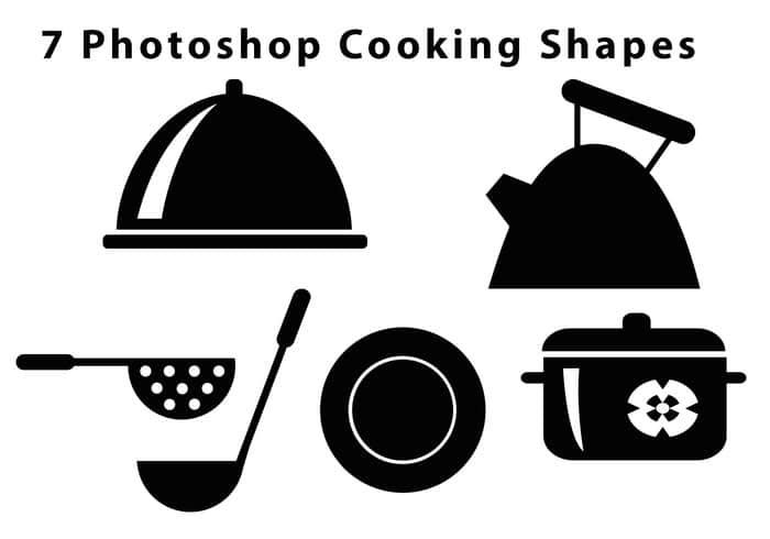 7种厨房元素Photoshop自定义形状素材 厨房笔刷 PS自定义形状素材 PS自定义形状  ps%e8%87%aa%e5%ae%9a%e4%b9%89%e5%bd%a2%e7%8a%b6%e7%b4%a0%e6%9d%90