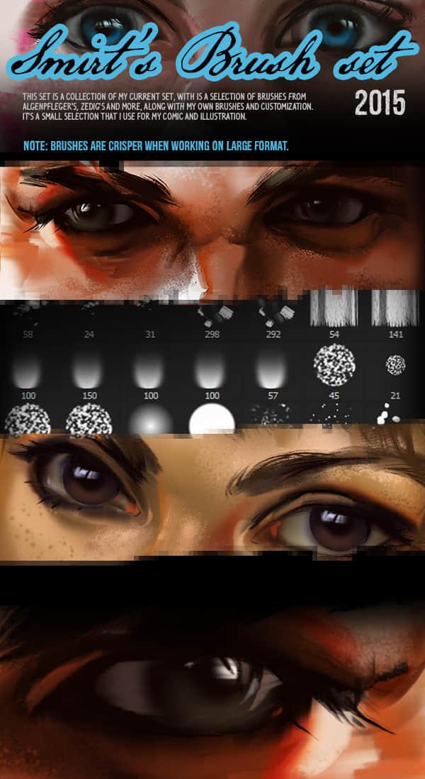 自制式CG绘画笔刷素材下载 绘画笔刷 CG笔刷  photoshop brush