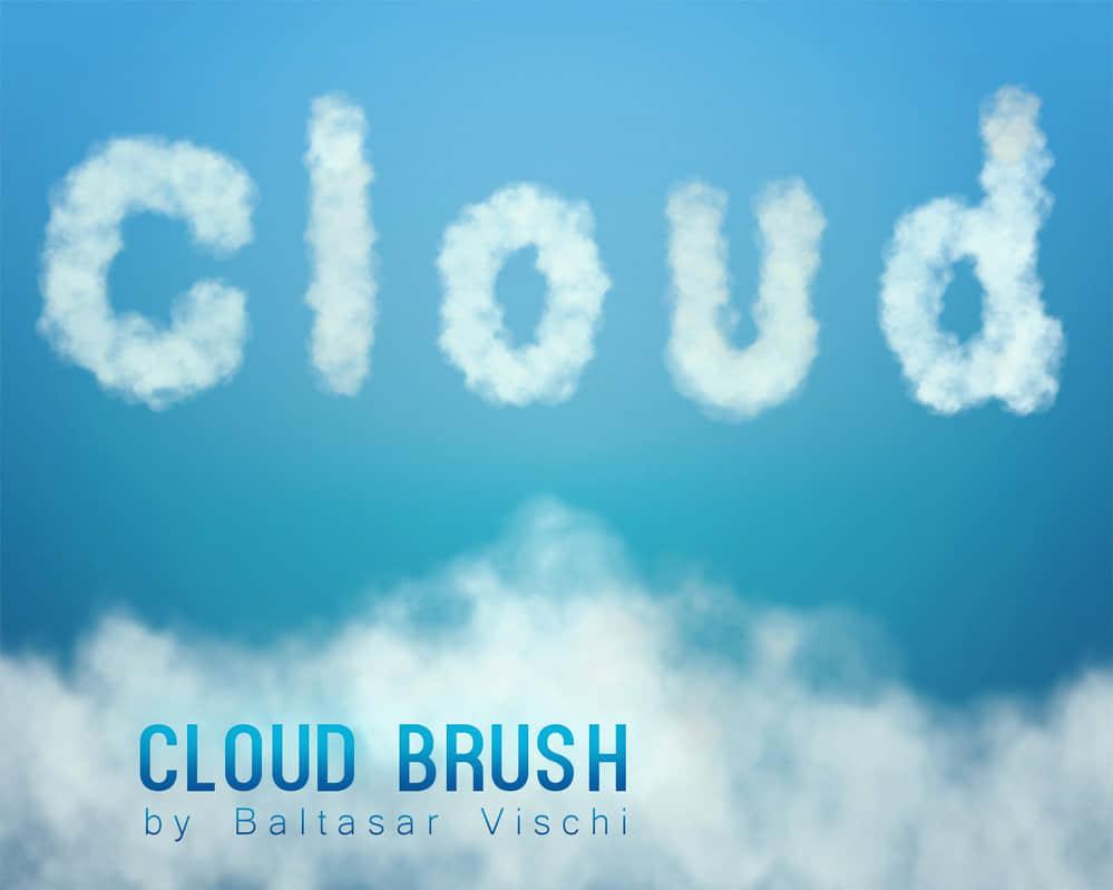 4种云雾朦胧效果PS笔刷素材下载 雾气笔刷 水汽笔刷 云雾笔刷 云彩笔刷  cloud brushes