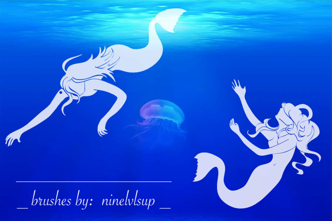 mermaid_brushes_by_ninelvlsup-d97tpr1