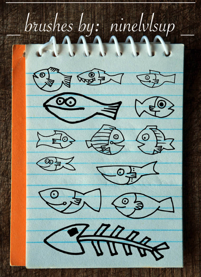 doodle_fish_brushes_by_ninelvlsup-d97tnxa