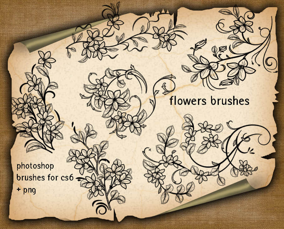 flower-decorative-brushes