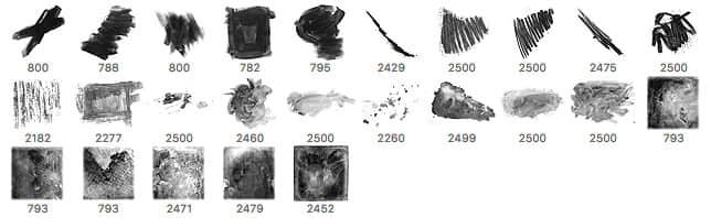 25种免费油漆、水彩痕迹PS笔刷下载 油漆痕迹笔刷 水彩笔刷  %e6%b2%b9%e6%bc%86%e7%ac%94%e5%88%b7
