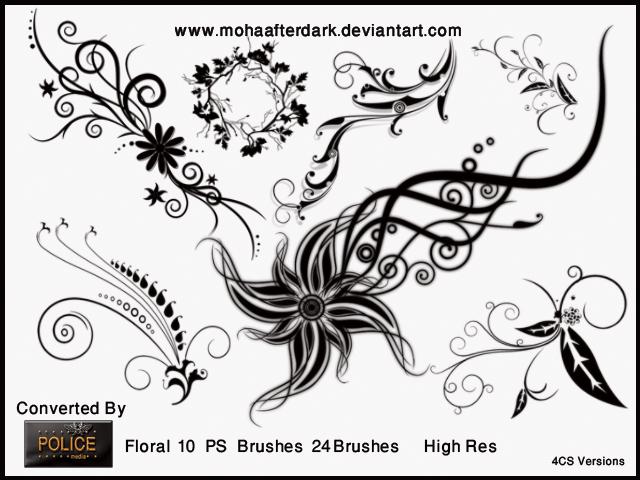 漂亮华丽的艺术花纹图案PS笔刷免费下载 艺术花纹笔刷 植物花纹笔刷 华丽花纹笔刷  flowers brushes