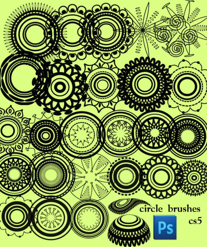 漂亮的圆形对称花纹图案photoshop cs5印花笔刷 对称花纹笔刷 圆形花纹笔刷 印花笔刷  flowers brushes