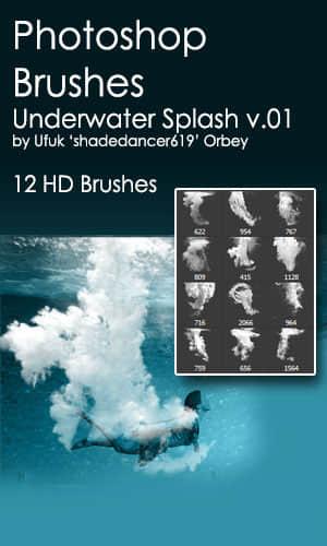 水下泡沫气泡、大量的气泡与水泡效果PS笔刷素材 水泡笔刷 气泡笔刷  water brushes