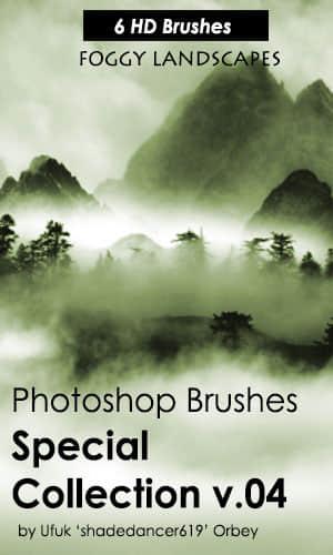 6种高清雾气、迷雾、大雾、山中烟雾里缭绕PS环境笔刷 雾气笔刷 迷雾笔刷 环境笔刷 烟雾笔刷 大雾笔刷  other brushes