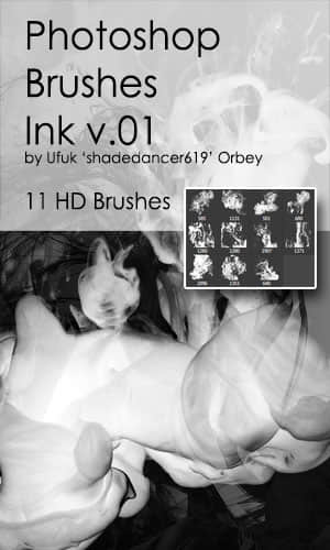 11种高清烟雾、烟气Photoshop笔刷素材 烟雾笔刷  flame brushes