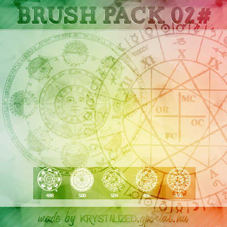 5个魔法阵、魔法图案、宗教符号Photoshop笔刷素材 魔法阵笔刷 魔法笔刷 神秘符号笔刷 宗教笔刷  symbols brushes