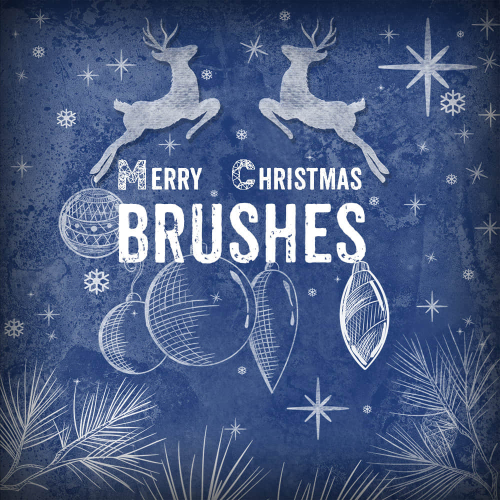 可爱圣诞节铃铛、礼物、麋鹿、彩球等卡通装饰品Photoshop美图笔刷 美图笔刷 童趣笔刷 圣诞节笔刷  %e5%8d%a1%e9%80%9a%e7%ac%94%e5%88%b7