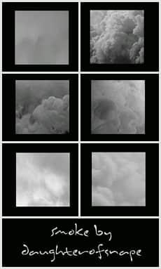 天空中浓密的云朵、云层效果Photoshop笔刷素材 白云笔刷 云彩笔刷 云层笔刷  cloud brushes