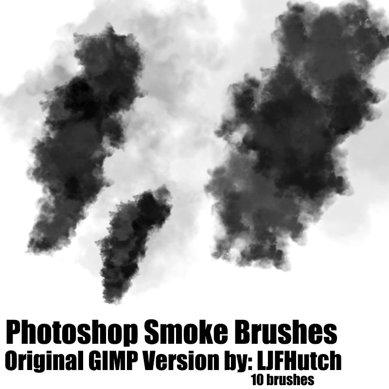 Photoshop仿真式浓烟效果笔刷素材下载 烟雾笔刷 浓烟笔刷  flame brushes