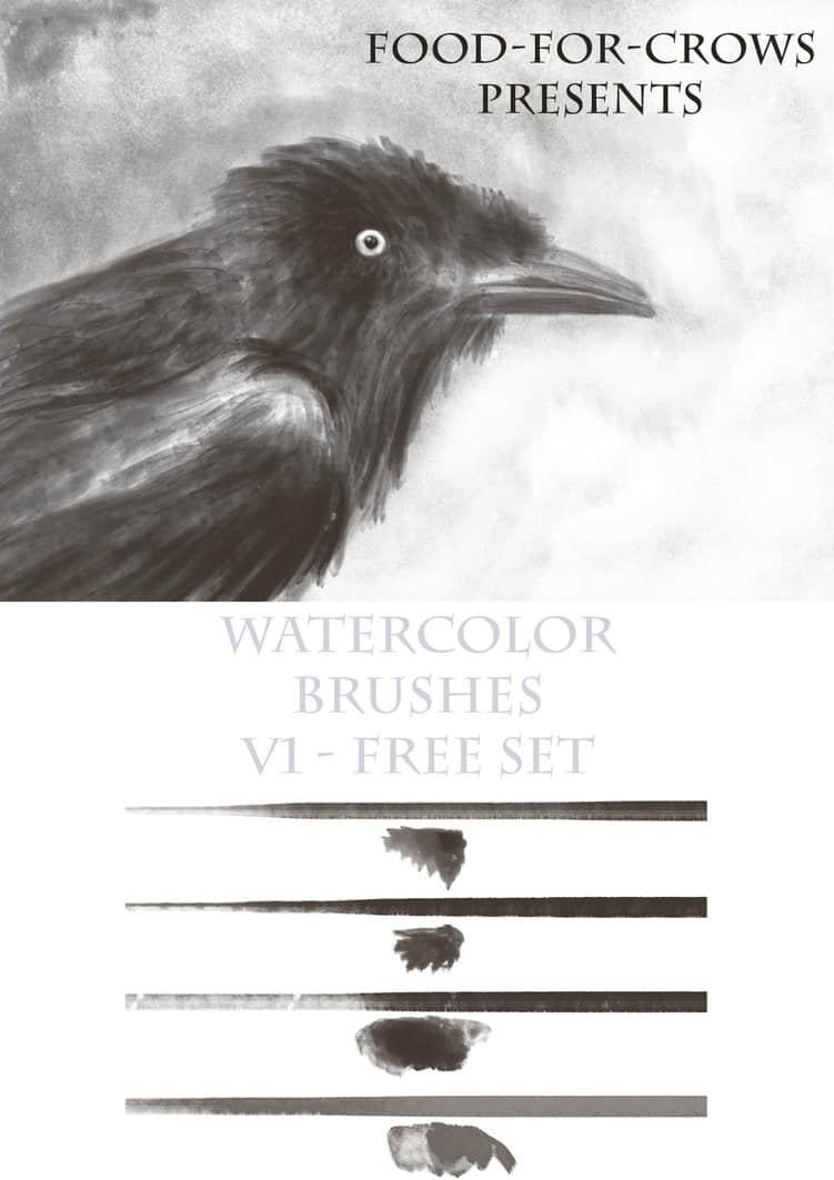 免费的水彩画笔Photoshop笔刷素材下载 绘画笔刷 水彩笔刷 水墨笔刷  photoshop brush