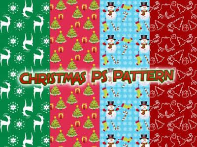 漂亮的可爱体的圣诞节装扮元素Photoshop填充印花底纹pat 圣诞节笔刷 PS填充素材  ps%e5%a1%ab%e5%85%85%e5%9b%be%e6%a1%88%e7%b4%a0%e6%9d%90