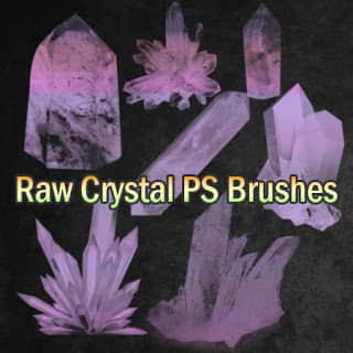 水晶矿、钻石矿效果图Photoshop笔刷素材下载 钻石笔刷 矿石笔刷 水晶笔刷 水晶矿笔刷  other brushes