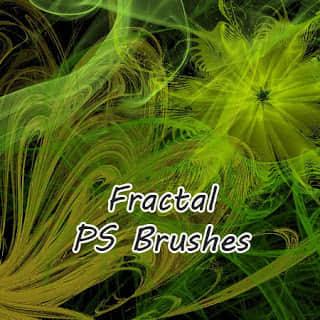 高清晰分形图形、曲线艺术效果PS笔刷 曲线笔刷 分形笔刷  light brushes