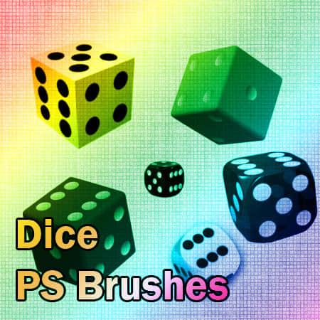 骰子、色子PS笔刷素材下载 骰子笔刷 色子笔刷  other brushes