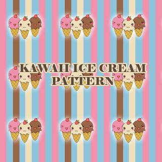 可爱卡通冰淇淋图案PS图案填充素材 冰淇淋笔刷 PS填充素材  ps%e5%a1%ab%e5%85%85%e5%9b%be%e6%a1%88%e7%b4%a0%e6%9d%90