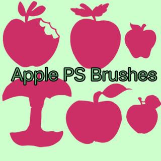 咬过的苹果图形Photoshop笔刷素材 苹果笔刷 苹果图形笔刷  %e5%8d%a1%e9%80%9a%e7%ac%94%e5%88%b7