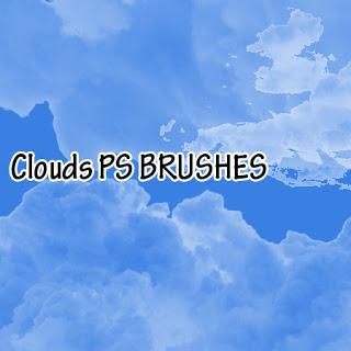 天空中的白天效果PS天空笔刷 白云笔刷  cloud brushes