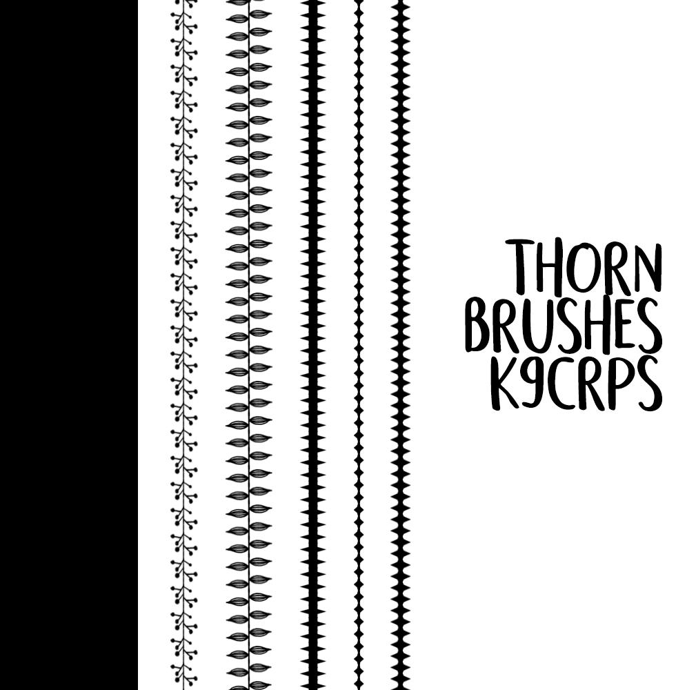 7种分隔栏符号图案Photoshop笔刷素材 边框笔刷 花纹边框笔刷 分隔符笔刷  adornment brushes