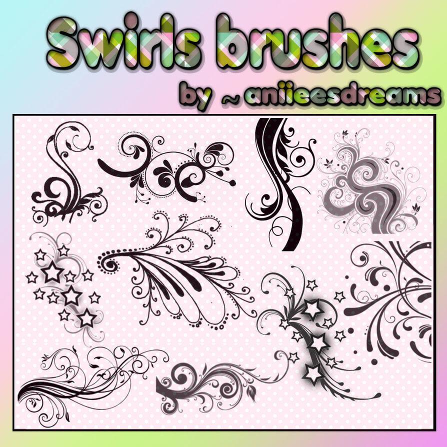漂亮的非主流艺术花纹图案Photoshop潮流印花笔刷 非主流花纹笔刷 酷花纹笔刷 潮流花纹笔刷 时尚花纹笔刷  flowers brushes