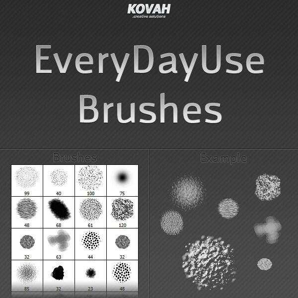 日常基础类画笔Photoshop笔刷素材下载 基础笔刷  photoshop brush