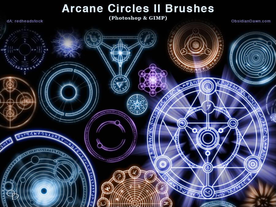 酷炫各种魔法阵效果、神秘魔法徽章、宗教仪式图案Photoshop符号笔刷 魔法阵笔刷 魔法笔刷 宗教笔刷  symbols brushes