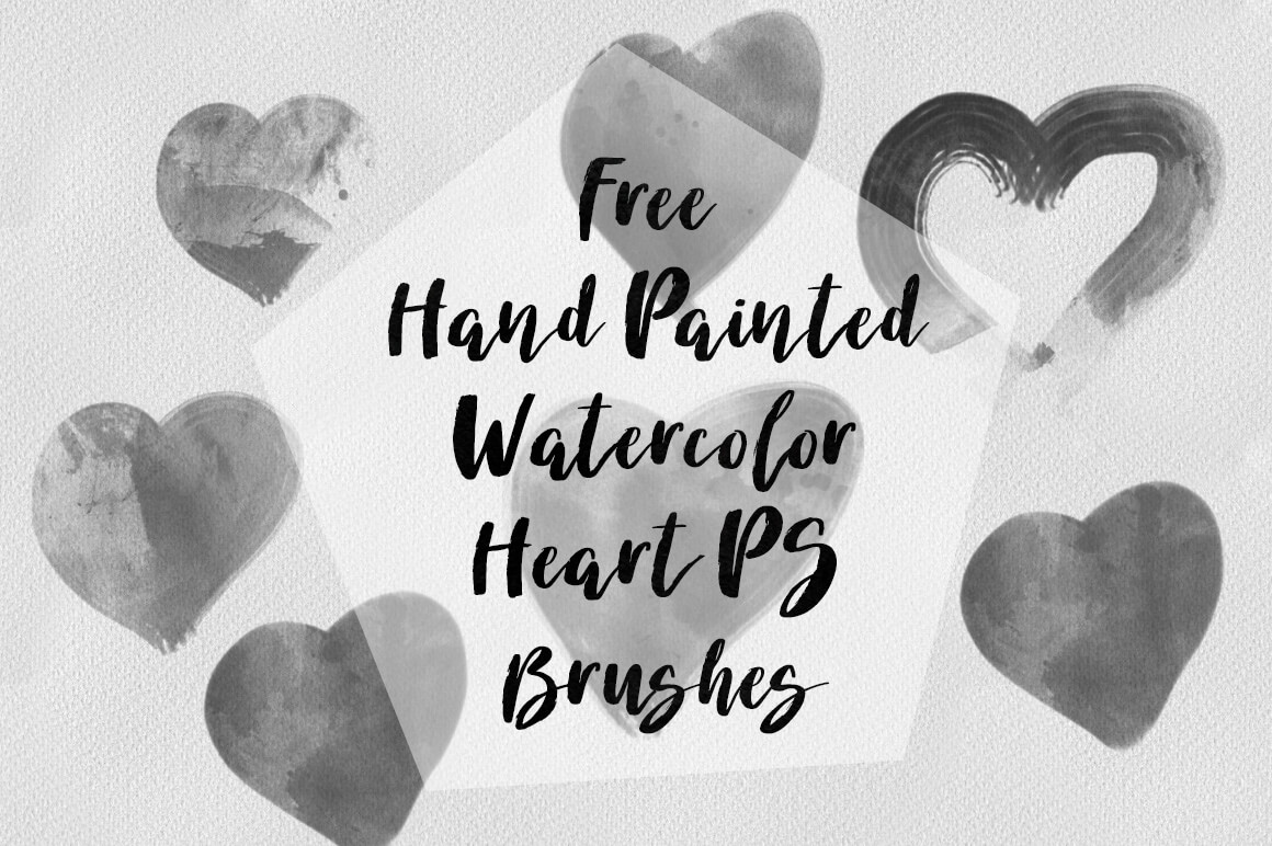 涂鸦式毛刷爱心、手绘刷子爱心Photoshop笔刷素材下载 爱心笔刷  love brushes
