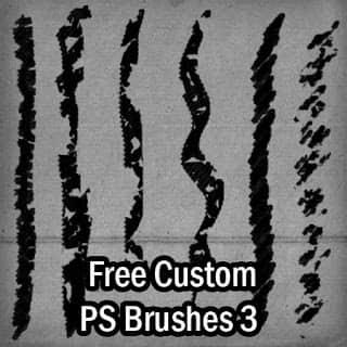 免费的定制型画笔风格Photoshop笔刷素材 笔触笔刷  photoshop brush