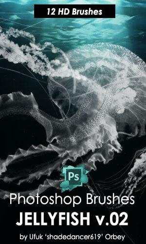 高清水母造型图案PS海洋生物笔刷 海洋笔刷 海洋生物笔刷 水母笔刷  %e5%8a%a8%e7%89%a9%e7%ac%94%e5%88%b7