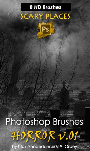恐怖场景、背景效果气氛PS笔刷素材下载 恐怖背景笔刷  background brushes