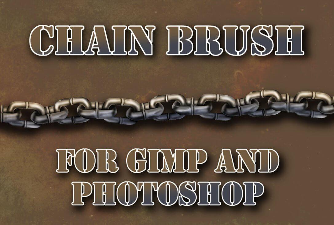 锁链、链条、铁链PS笔刷素材下载 锁链笔刷 链条笔刷 铁链笔刷  adornment brushes