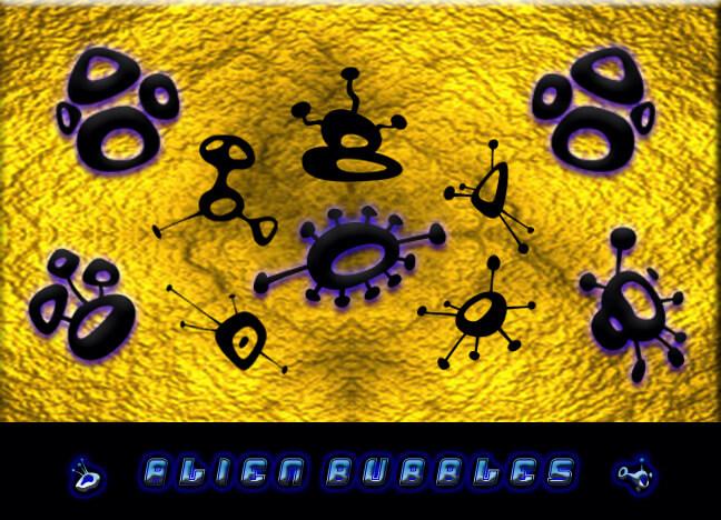 神秘的外星人符号图案PS笔刷素材下载 神秘符号笔刷 外星人笔刷  symbols brushes
