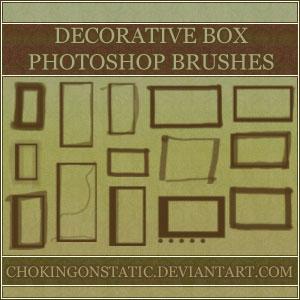 方框、边框涂抹痕迹PS笔刷素材下载 边框笔刷 方框笔刷  adornment brushes
