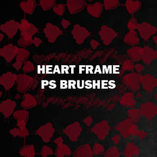 红桃心、爱心、心形图案Photoshop笔刷素材下载