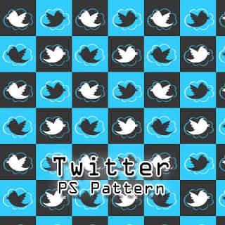 可爱的推特小鸟图案PS背景填充素材.pat下载