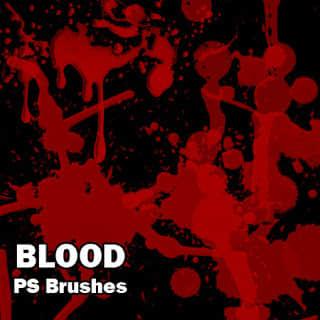 血迹效果、滴血纹理Photoshop笔刷素材下载 血迹笔刷 滴血笔刷 流血笔刷  characters brushes