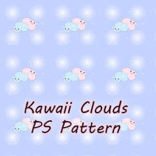 可爱小云朵图案Photoshop填充图案文件底纹素材 .pat 下载