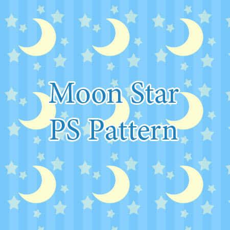 可爱的星星月亮符号背景Photoshop填充图案文件底纹素材 .pat 下载
