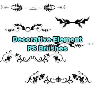 免费欧洲贵族式艺术花纹图案Photoshop笔刷素材下载