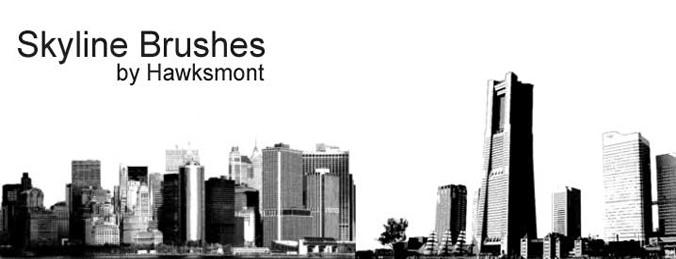 简单城市背景笔刷
