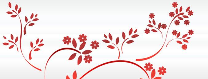 CS5笔刷-枝条花纹