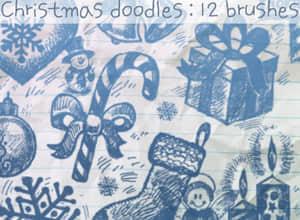 圣诞涂鸦笔刷