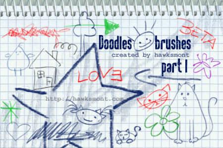 可爱涂鸦笔刷
