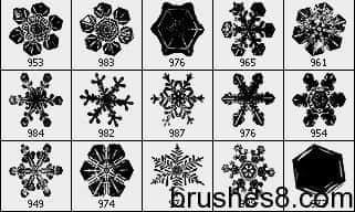 多种雪花笔刷