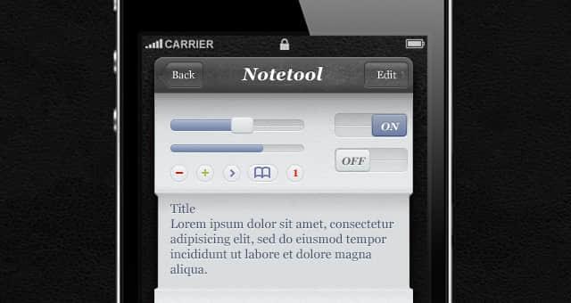iPhone应用程序的UI工具psd素材包